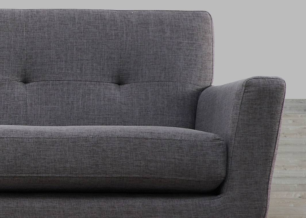 Grey Linen Sofa Button Tufted with regard to Tufted Linen Sofas (Image 13 of 30)
