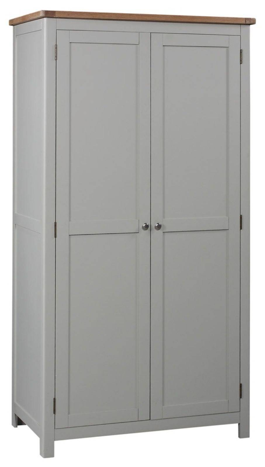 Grey Painted Double Wardrobe with regard to Grey Painted Wardrobes (Image 5 of 15)