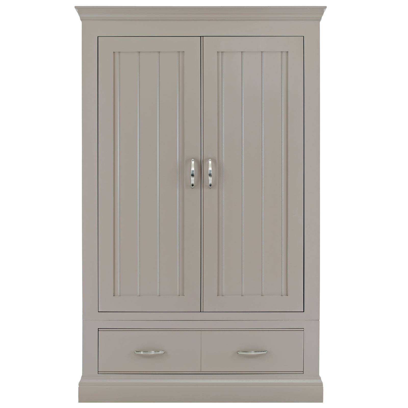 Grey Painted Large Wardrobe in Grey Painted Wardrobes (Image 6 of 15)