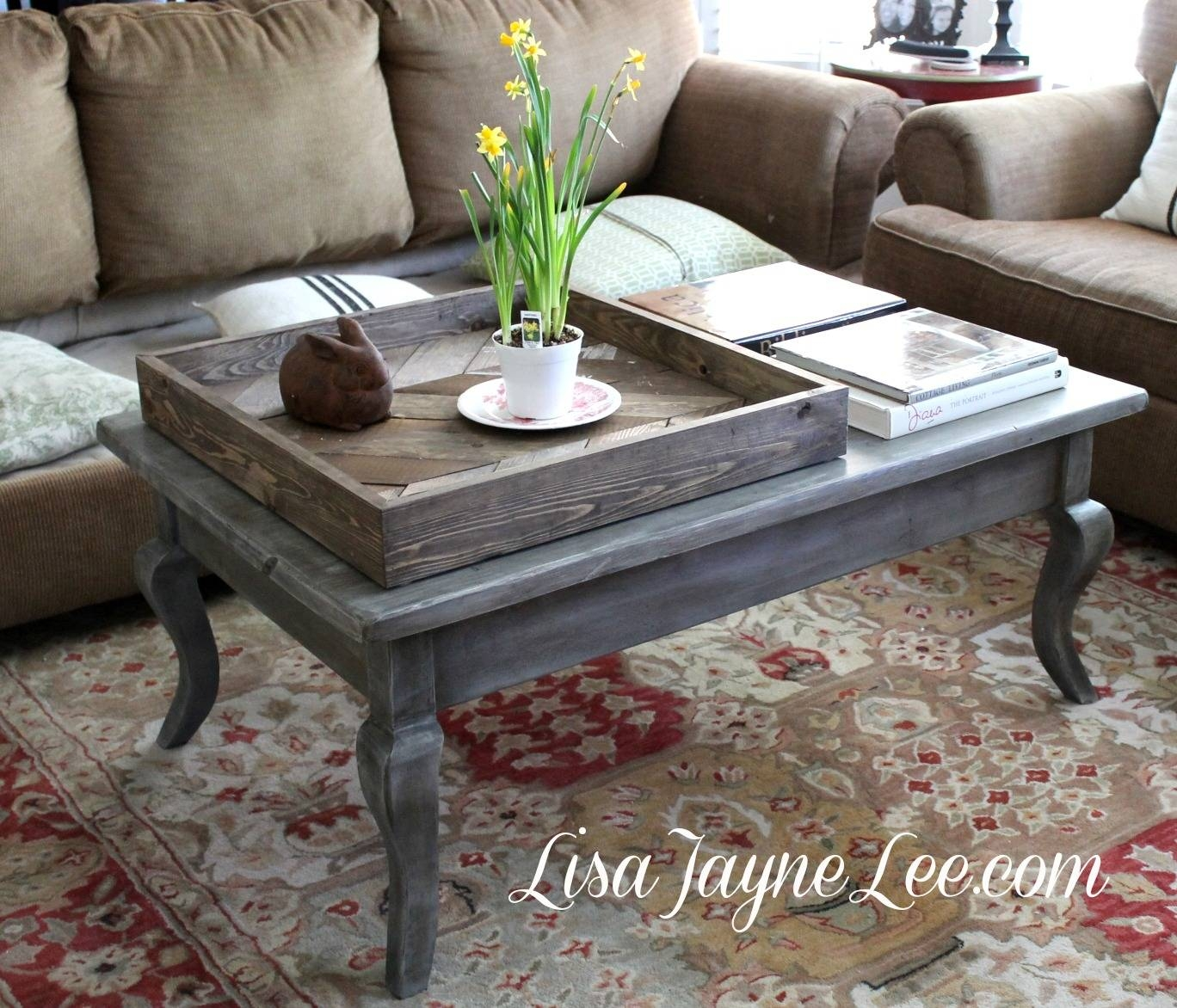 Grey Wood Stain Coffee Table Makeover | in Gray Wood Coffee Tables (Image 26 of 30)