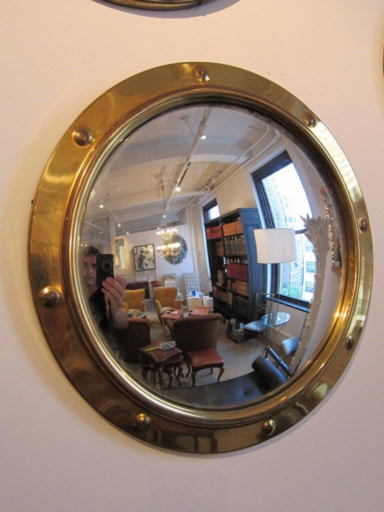 Group Of Brass Porthole Convex Mirrors At 1Stdibs with Porthole Style Mirrors (Image 9 of 25)
