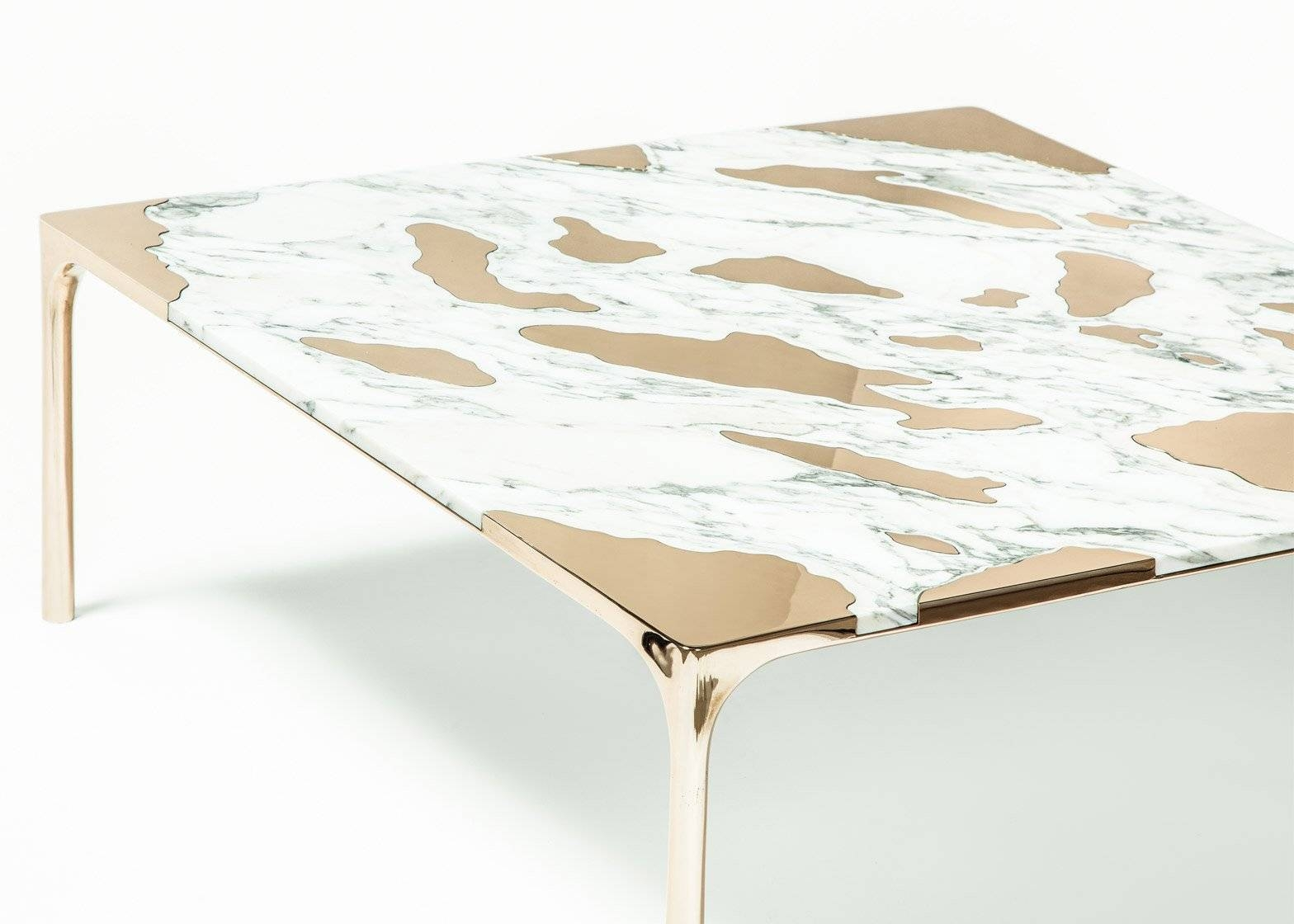 Gt2P Pairs Unusual Materials In Marble Vs Bronze Coffee Table for Bronze Coffee Tables (Image 18 of 30)