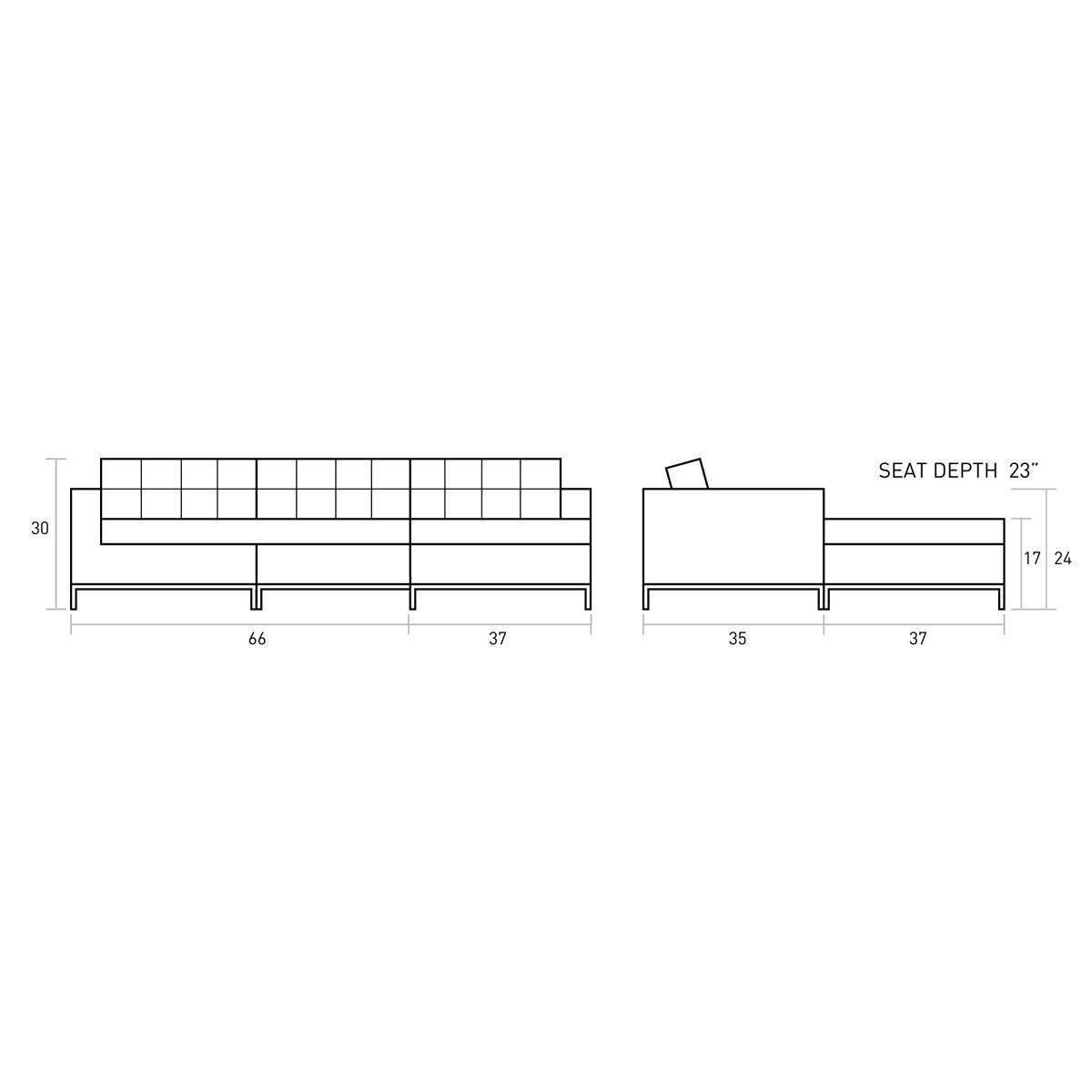 Gus Jane Bi-Sectional From $3,199.00Gus   Danco Modern in Jane Bi Sectional Sofa (Image 7 of 30)