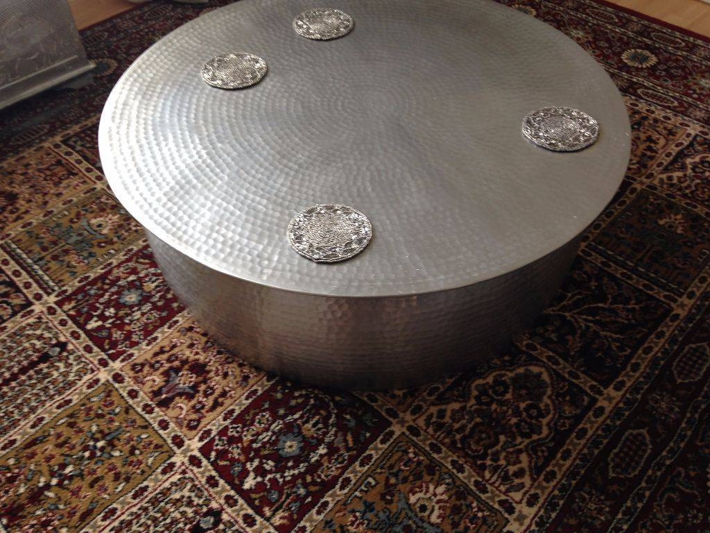 Habitat Orrico Hammered Aluminium Coffee Table ,3 Months Old Cost in Aluminium Coffee Tables (Image 14 of 30)