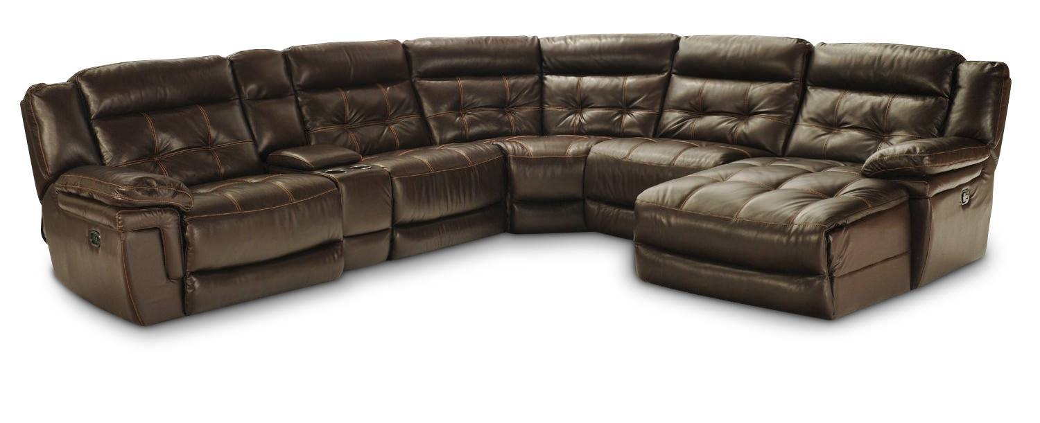Hallmark 6 Piece Leather Power Recline Sectional (2 Reclining with regard to 6 Piece Leather Sectional Sofa (Image 18 of 30)