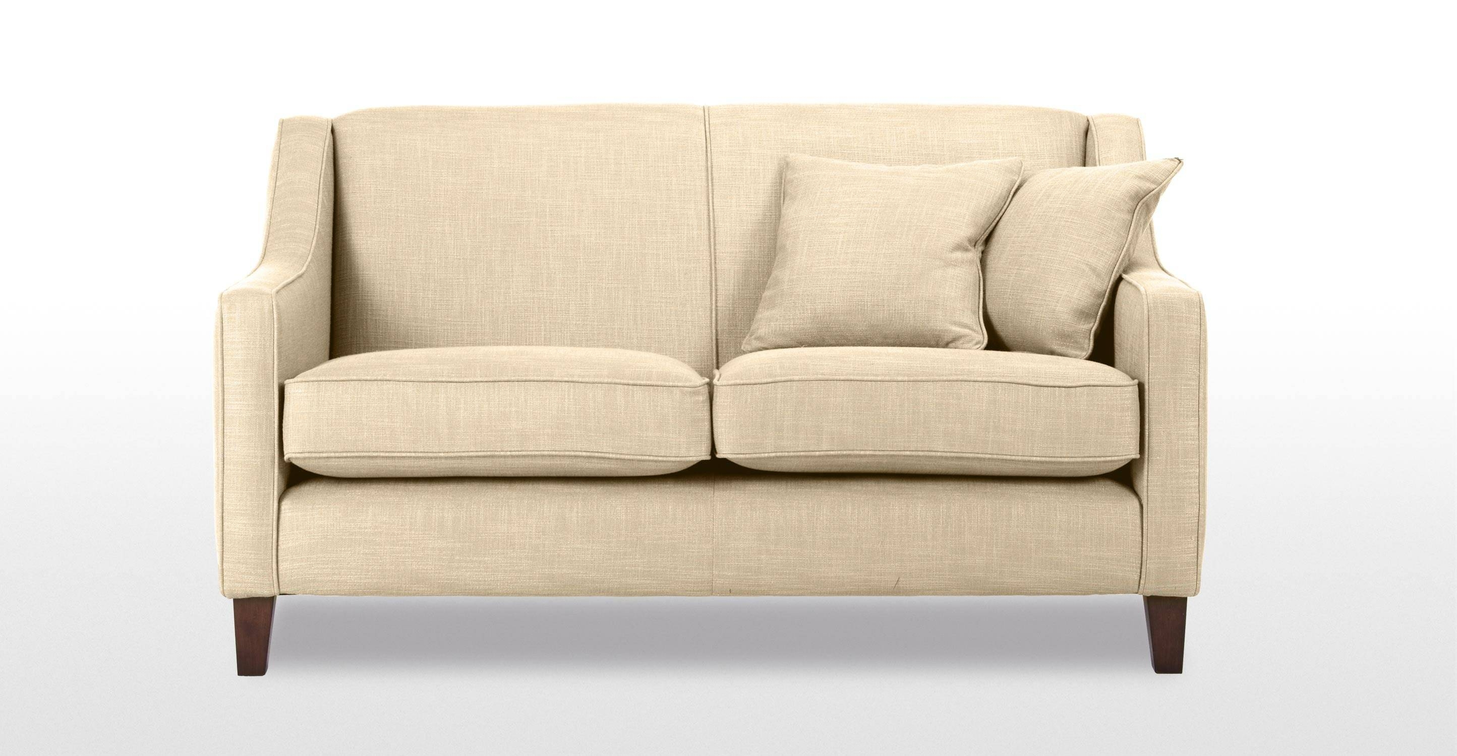Halston 2 Seater Sofa In Cream | Made pertaining to Two Seater Chairs (Image 8 of 30)