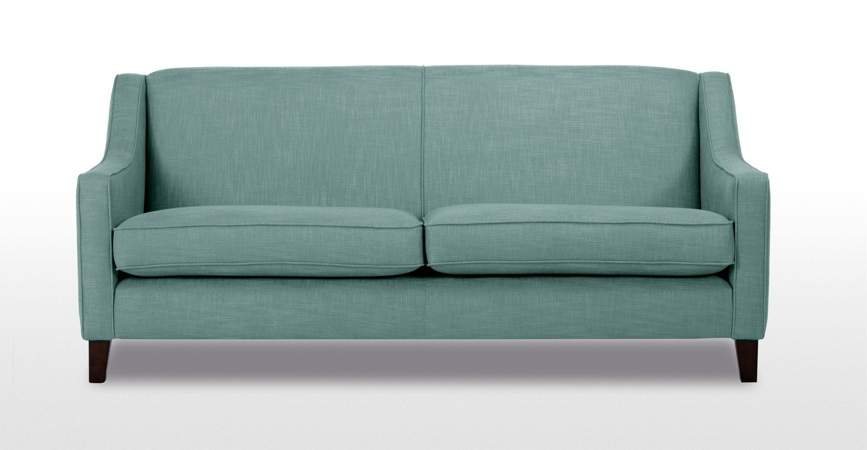 Halston 3 Seater Sofa In Aqua | Made throughout Three Seater Sofas (Image 20 of 30)