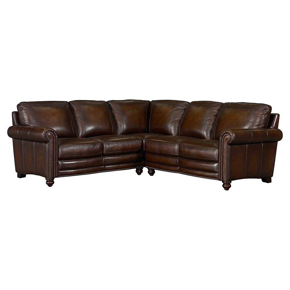Hamilton Leather Sectional Sofabassett Furniture - Bassett in Bassett Sectional Sofa (Image 15 of 30)
