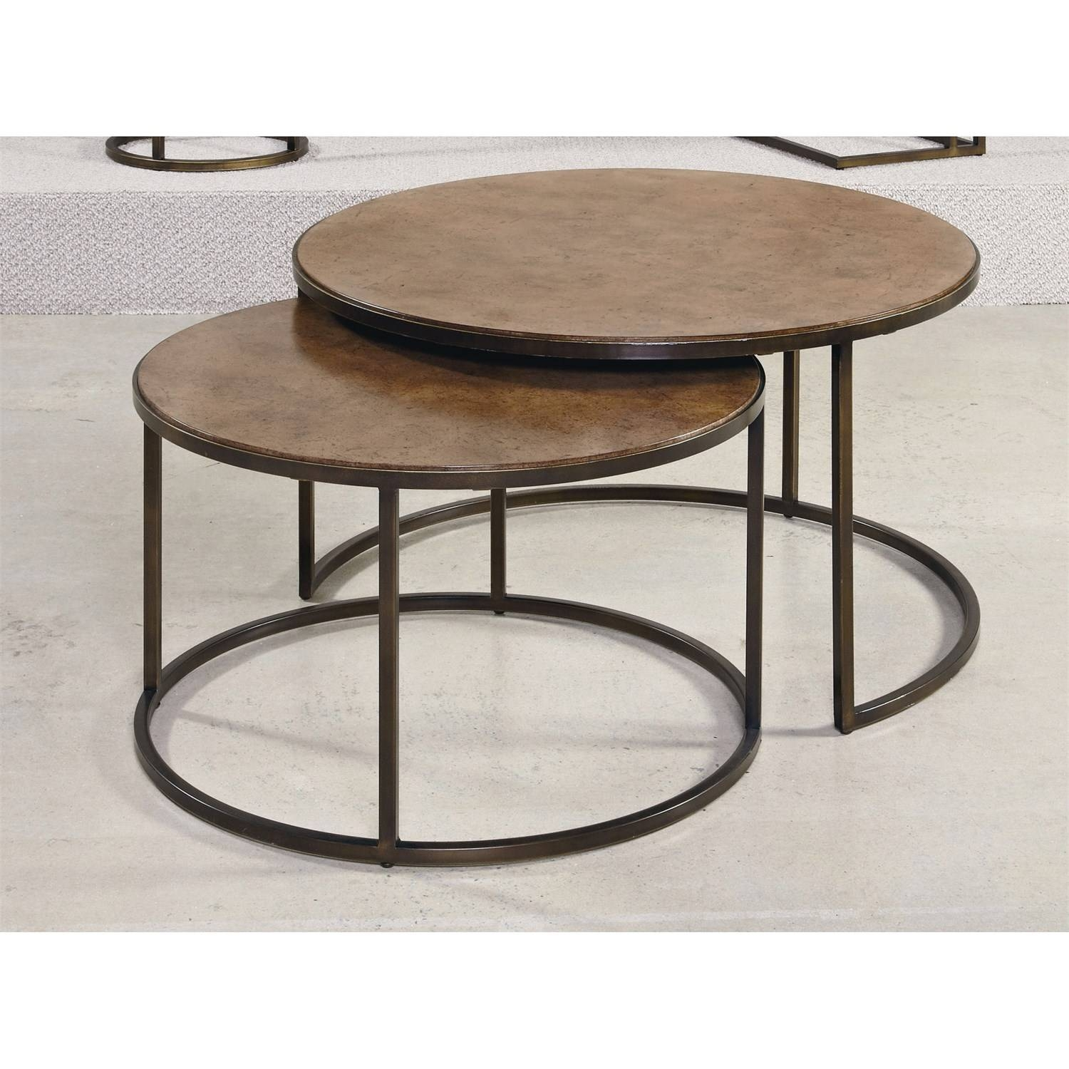 Hammary 376-911 Soho Round Cocktail Table - Homeclick throughout Soho Coffee Tables (Image 10 of 30)