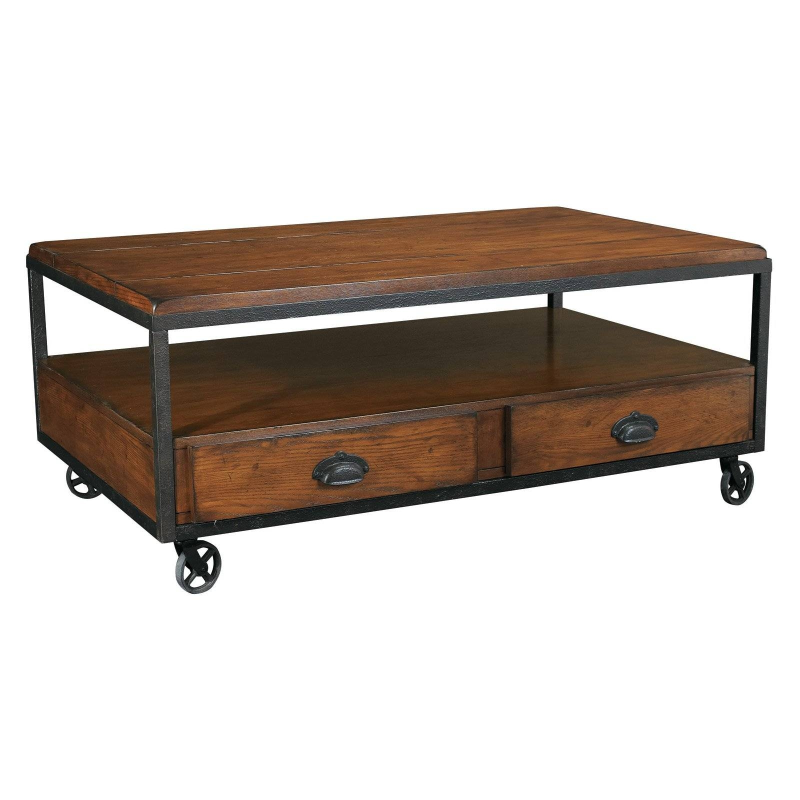 Hammary Baja Rectangular Storage Coffee Table - Coffee Tables At throughout Storage Coffee Tables (Image 20 of 30)