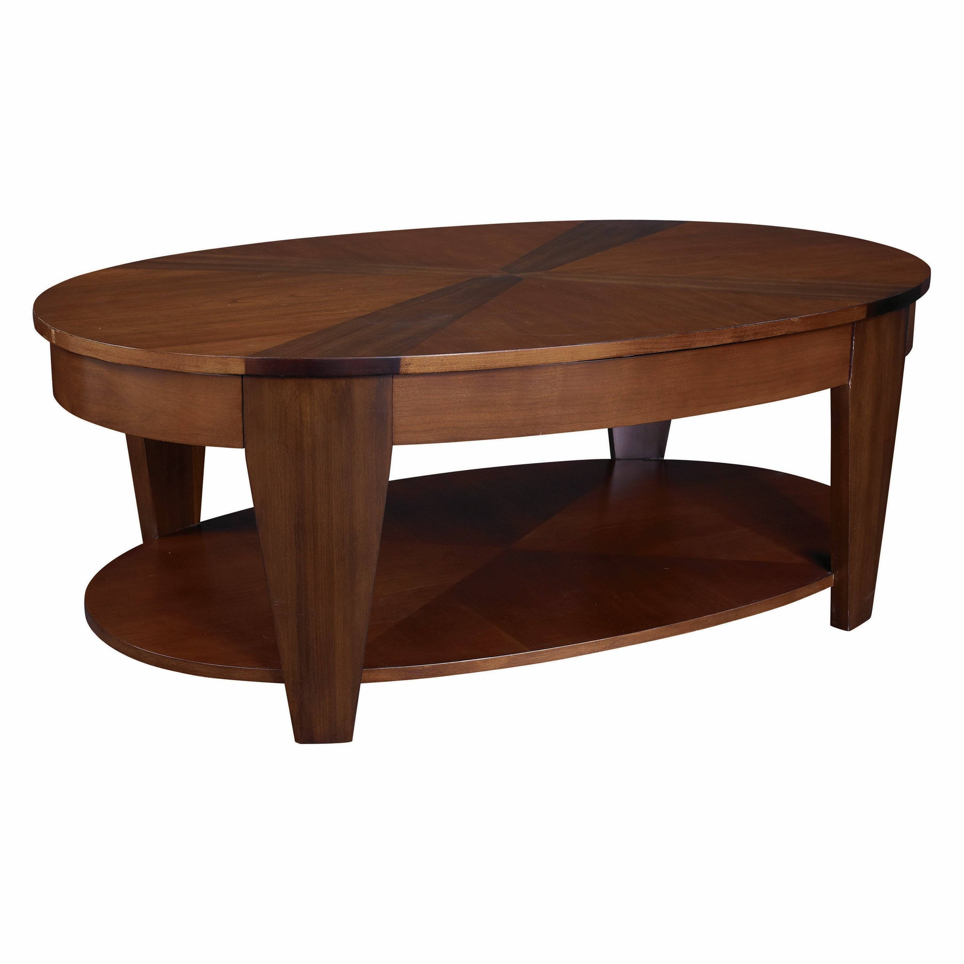 Hammary Concierge Oval Lift-Top Coffee Table - Coffee Tables At for Coffee Tables With Rising Top (Image 15 of 30)