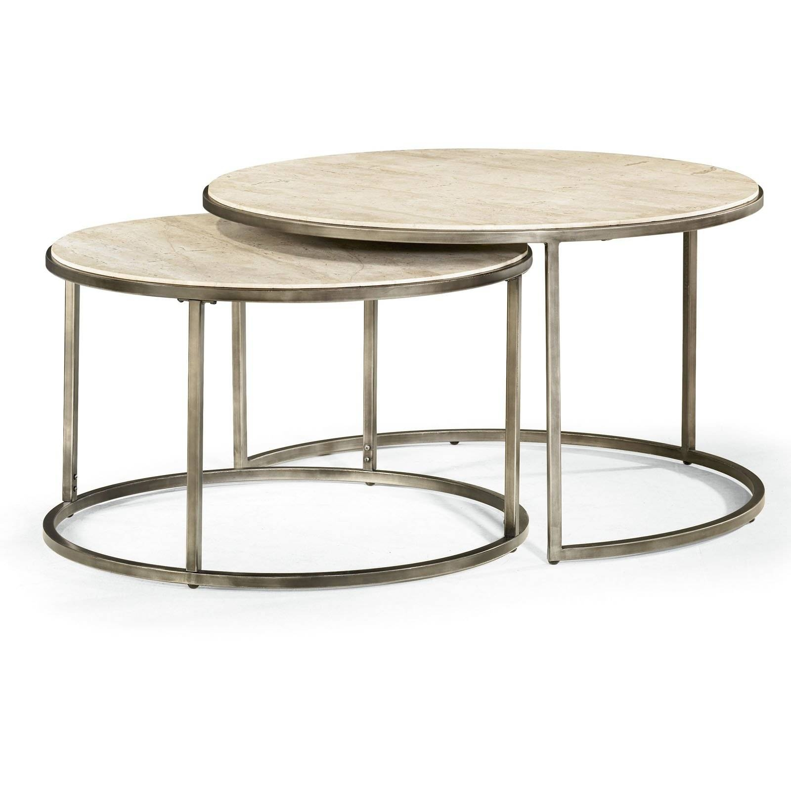 Hammary Modern Basics Round Cocktail Table - Natural Travertine with regard to Monterey Coffee Tables (Image 12 of 30)