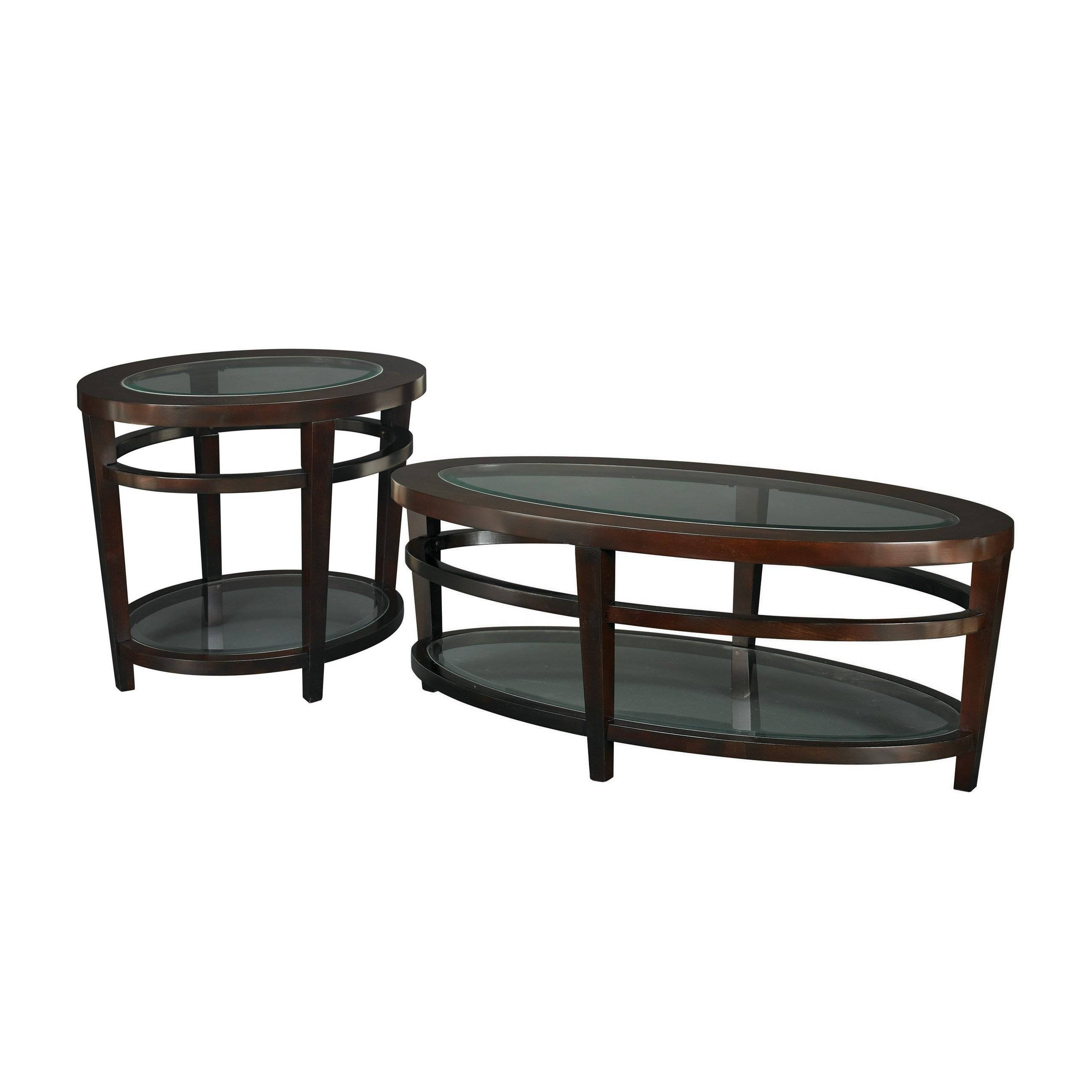 Hammary Oasis 2-Piece Oval Coffee Table Set | Hayneedle for 2 Piece Coffee Table Sets (Image 22 of 30)