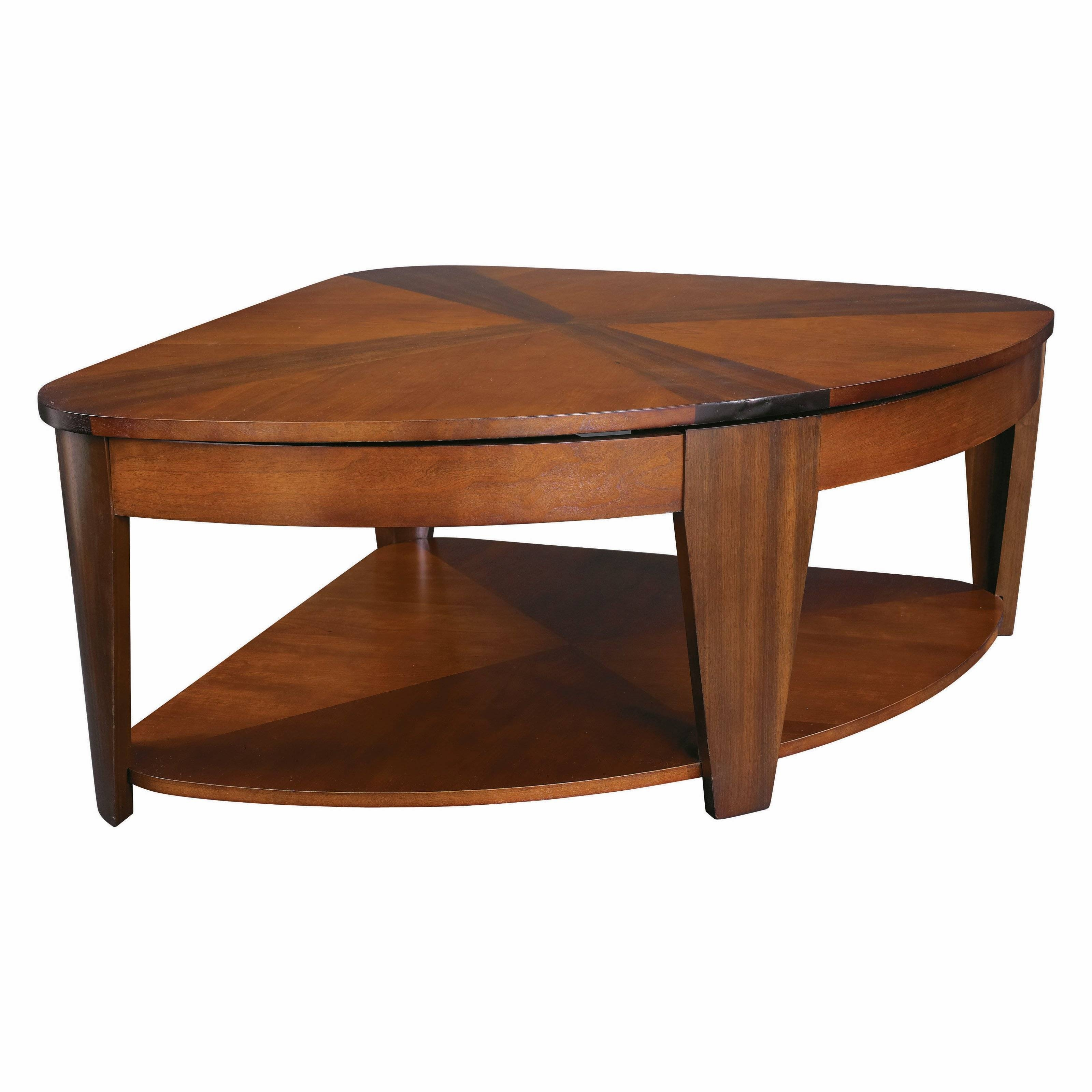 Hammary Oasis Wedge Lift-Top Coffee Table | Hayneedle with regard to Corner Coffee Tables (Image 21 of 30)