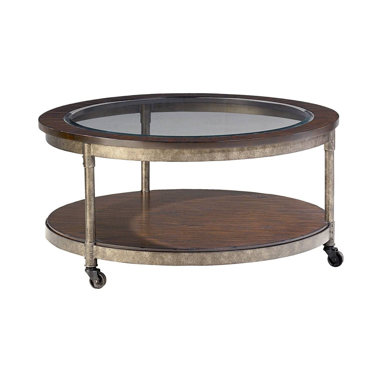 Hammary Structure Round 2 Piece Coffee Table Set - Beyond Stores for 2 Piece Coffee Table Sets (Image 25 of 30)