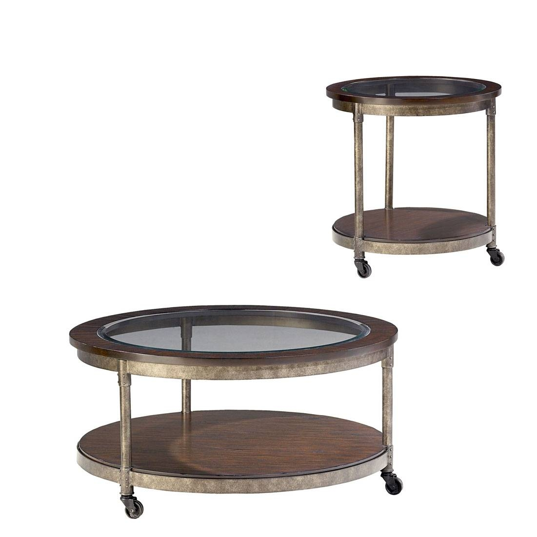 Hammary Structure Round 2 Piece Coffee Table Set - Beyond Stores for 2 Piece Coffee Table Sets (Image 24 of 30)