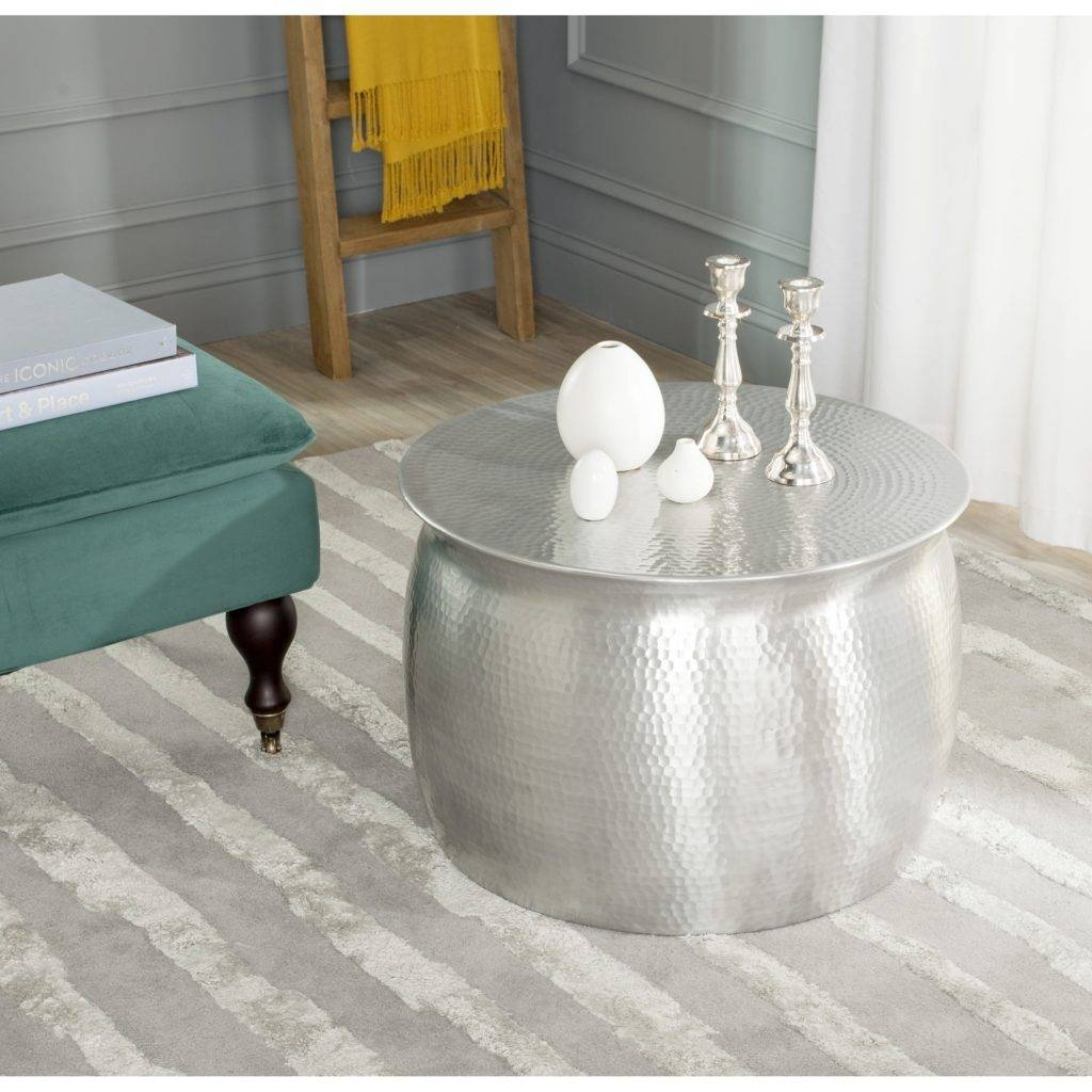 Hammered Silver Coffee Table Designs Dreamer Silver Metal Coffee in Hammered Silver Coffee Tables (Image 18 of 30)