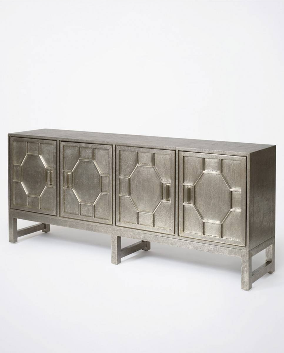 Hammered White Metal Sideboard | Luxe Furniture | Bowerbird Home for Metal Sideboards (Image 14 of 30)