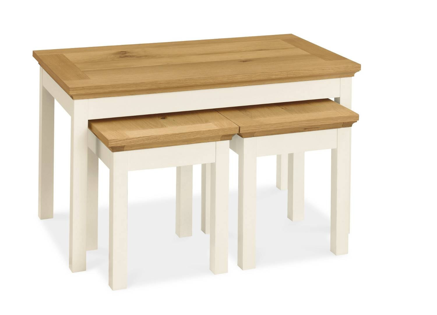 Hampshire Two Tone Nest Of Coffee Tables | Oak Furniture Solutions intended for Nest Coffee Tables (Image 15 of 30)