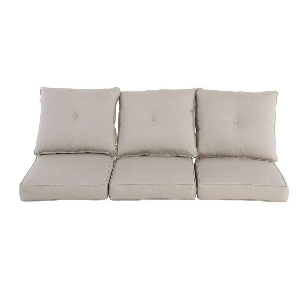 Hampton Bay Broadview Sunbrella Spectrum Dove Replacement Outdoor With Regard To Sofa Cushions (View 17 of 30)