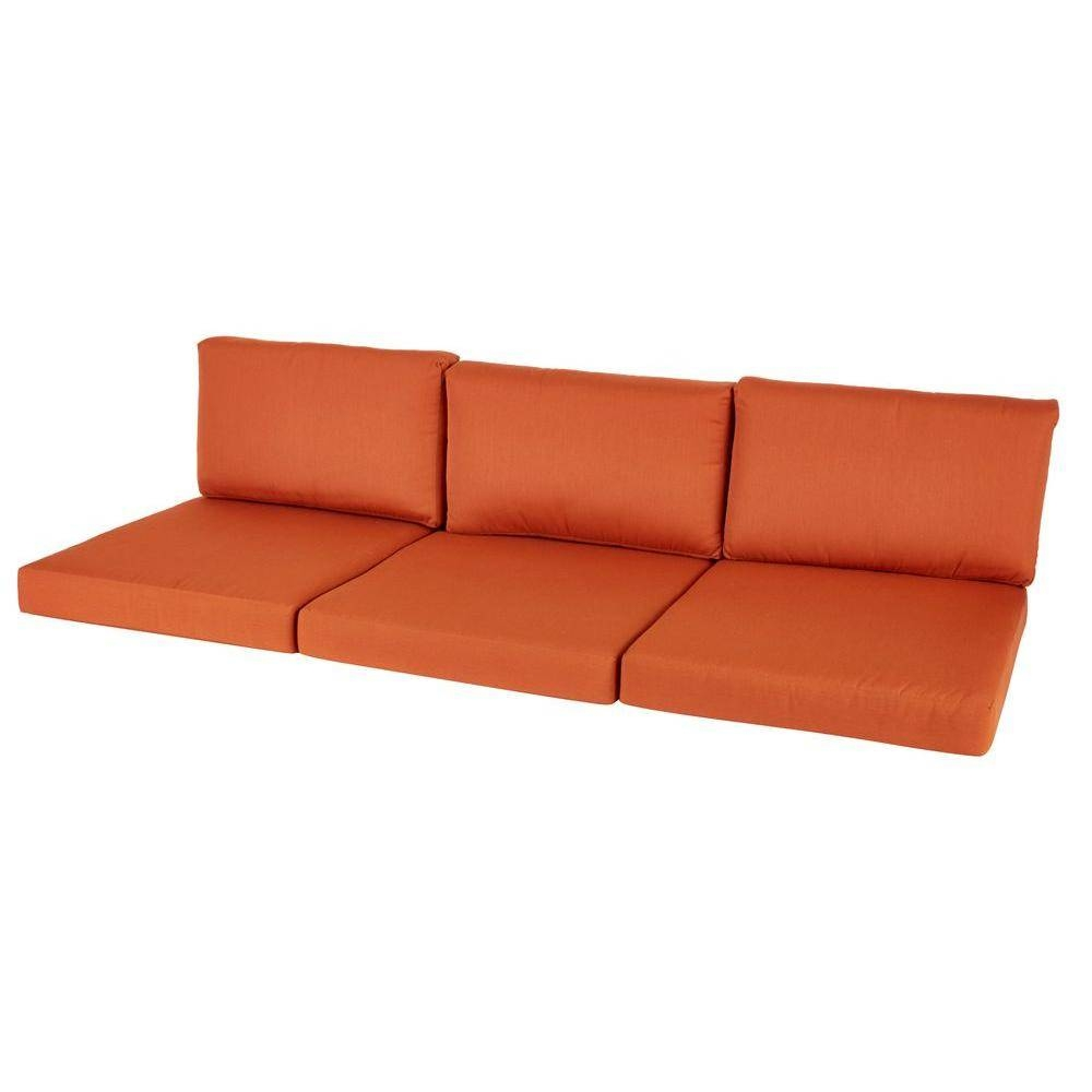 Hampton Bay - Outdoor Sofa Cushions - Sofa & Loveseat Cushions throughout Sofa Cushions (Image 16 of 30)