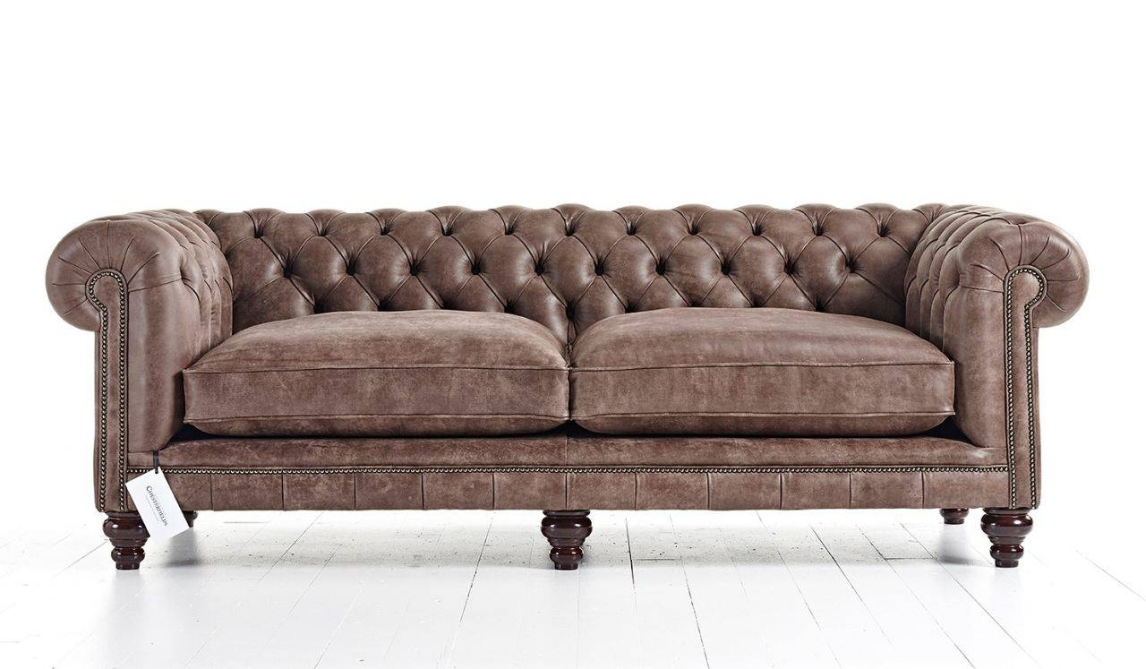 Hampton Tufted Chesterfield Sofa | Tufted Couch throughout Tufted Leather Chesterfield Sofas (Image 14 of 30)