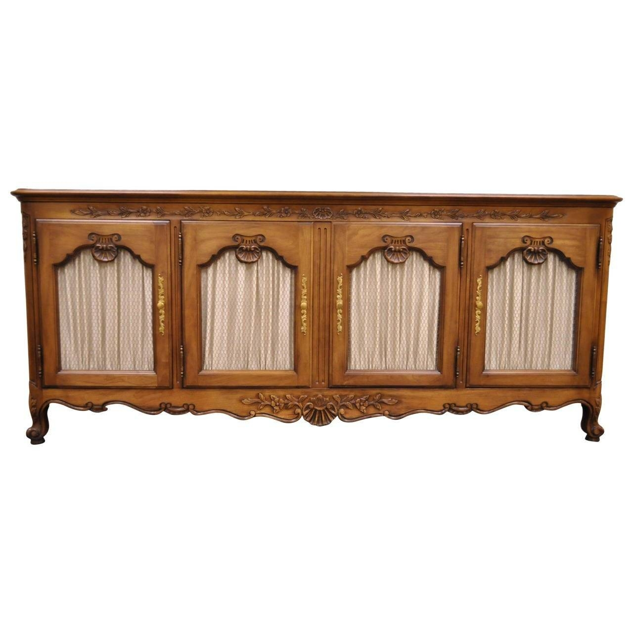 Hand-Carved French Country Or Louis Xv Style Vintage Sideboard inside French Style Sideboards (Image 17 of 30)