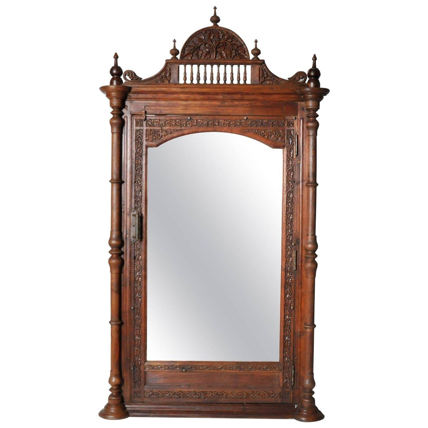 Hand-Carved Victorian Full-Length Patina Mirror At 1Stdibs pertaining to Victorian Full Length Mirrors (Image 20 of 25)