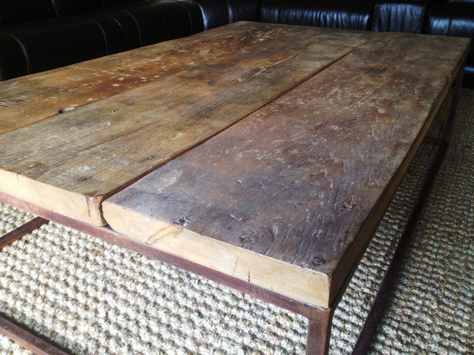Hand Crafted Industrial-Style Coffee Tablee.b. Mann for Coffee Table Industrial Style (Image 21 of 30)