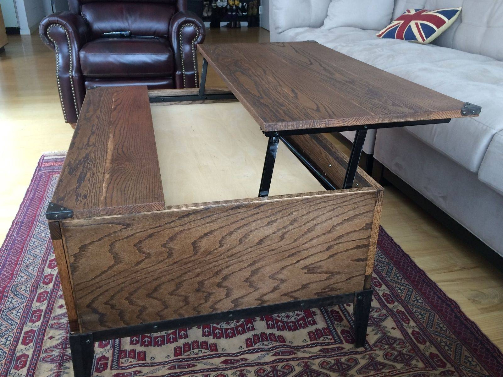 Hand Crafted Lift Top Coffee Tablem.karl, Llc | Custommade pertaining to Lift Top Coffee Table Furniture (Image 12 of 30)