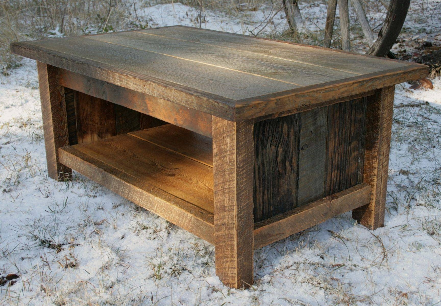 Hand Crafted Rustic Reclaimed Coffee Tableecho Peak Design with Rustic Style Coffee Tables (Image 21 of 30)