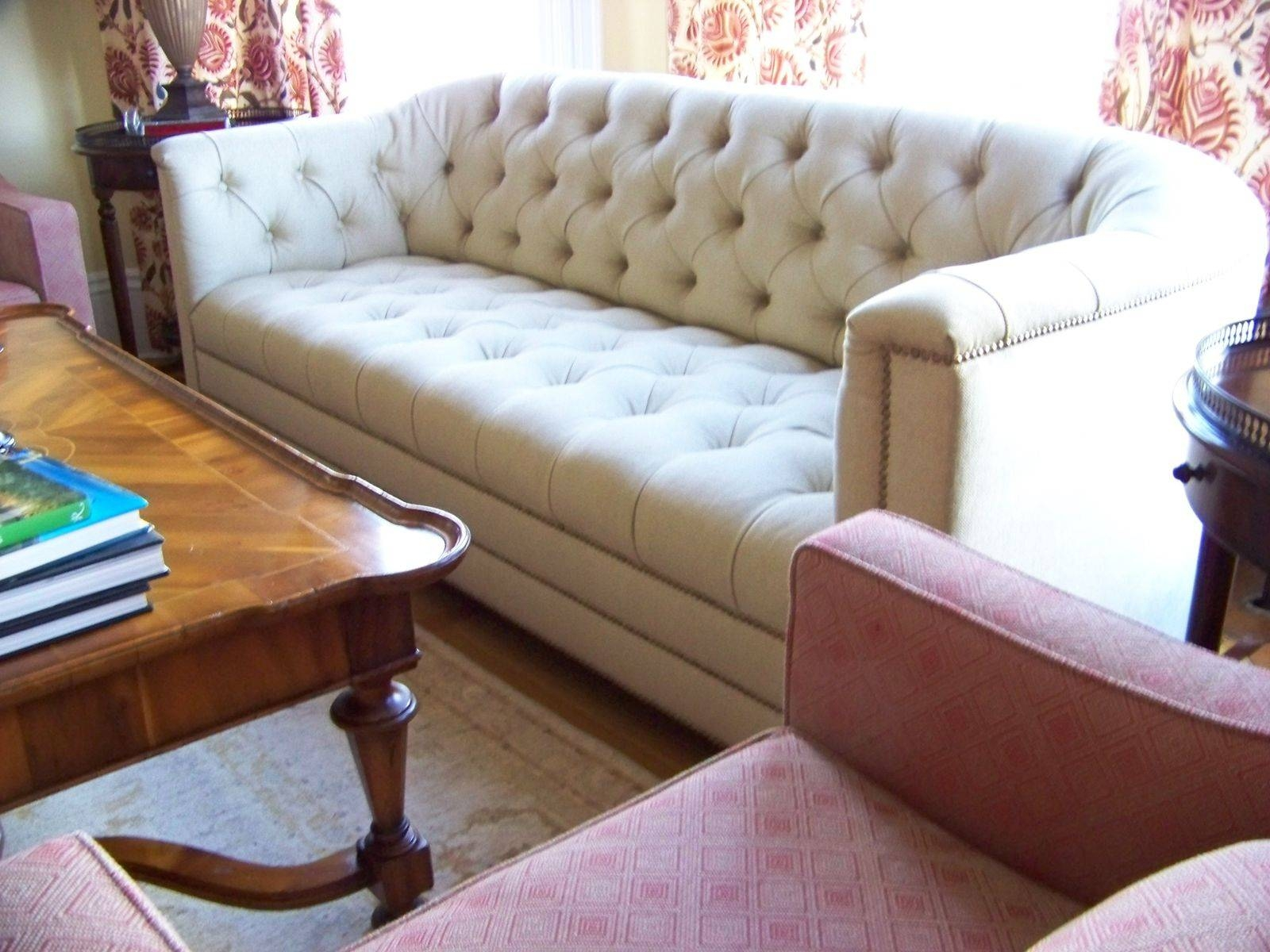 Hand Made Catherine Curved Back Tufted Sofaashley Cunningham Regarding Ashley Tufted Sofa (View 6 of 30)