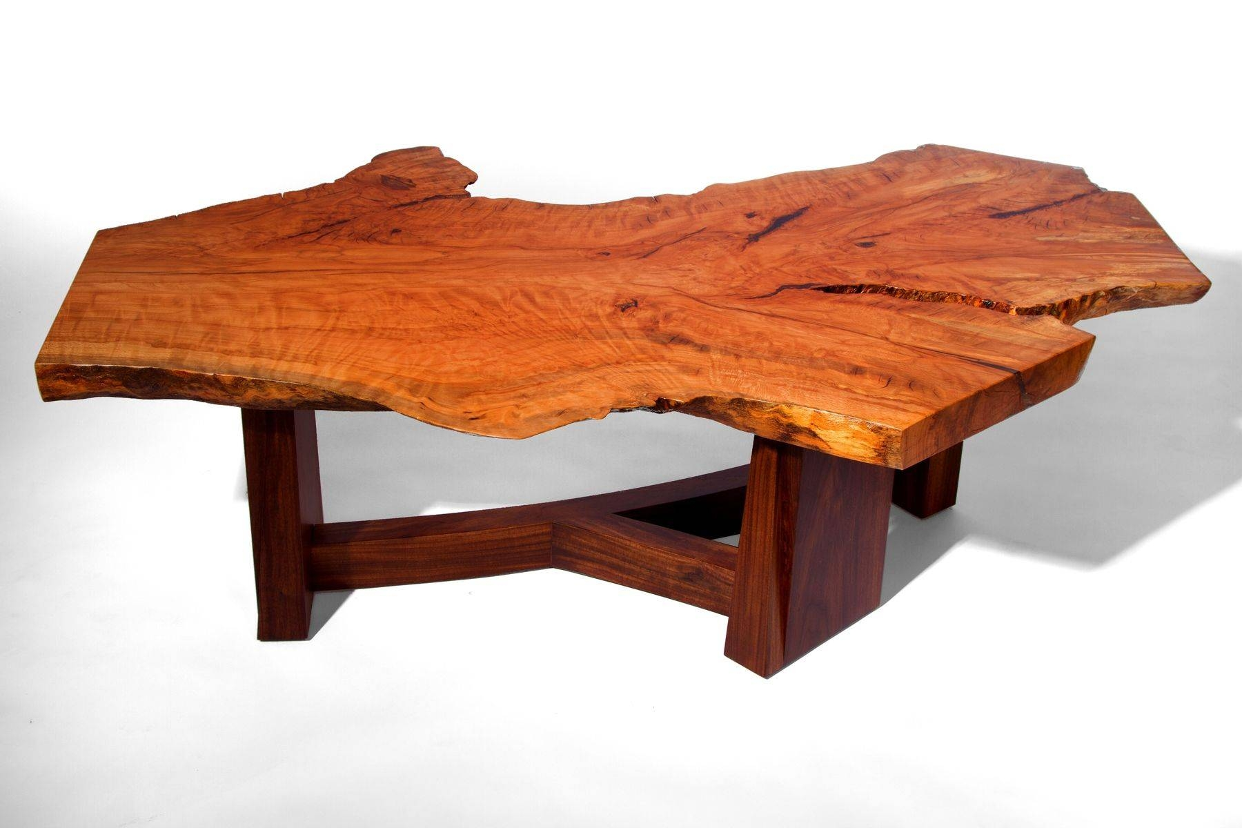 Hand Made Live Edge Beech Slab Coffee Tablej. Holtz Furniture inside Beech Coffee Tables (Image 19 of 30)