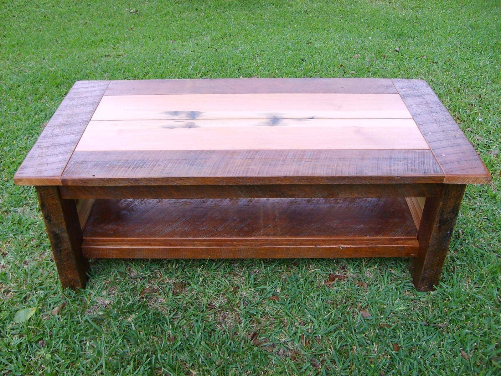 Hand Made Reclaimed Heart Pine Coffee Tablenorm's Custom inside Pine Coffee Tables (Image 10 of 30)