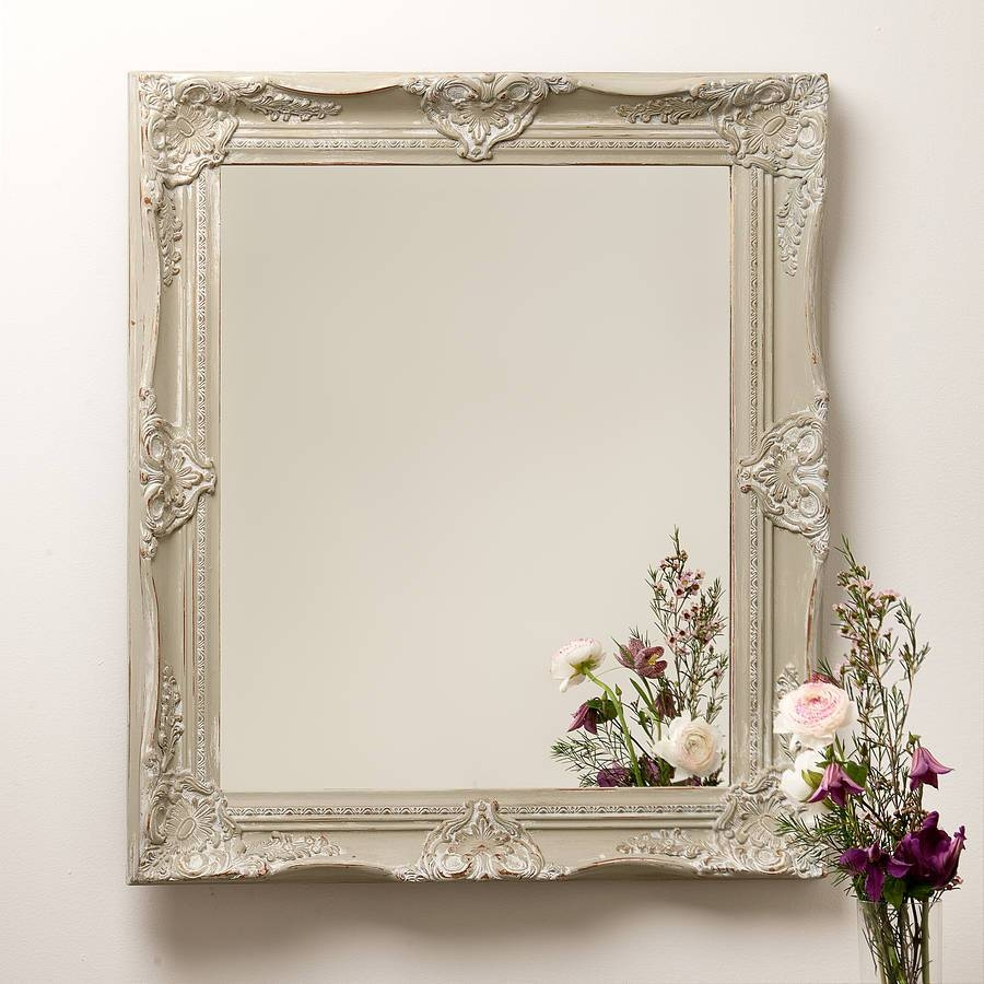 Hand Painted Ornate French Mirrorhand Crafted Mirrors for French Mirrors (Image 20 of 25)
