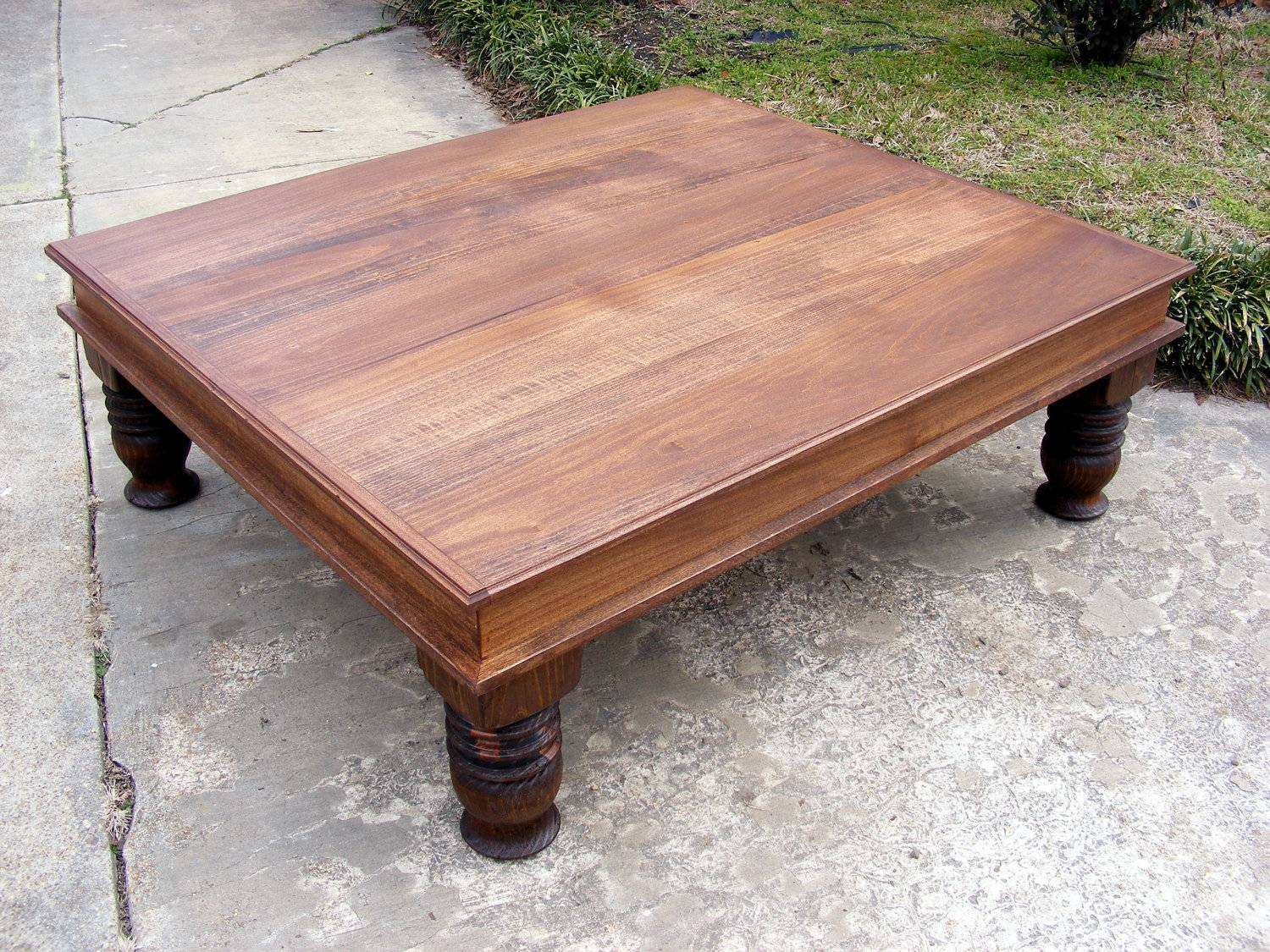 Handcrafted Coffee Table English Chestnut Finish With inside Chunky Coffee Tables (Image 14 of 30)