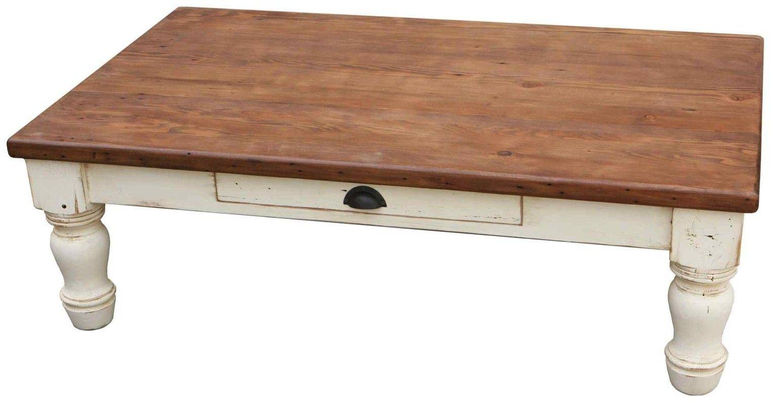 Handmade Country Farm Turned Leg Coffee Tablemortise & Tenon in Country Coffee Tables (Image 27 of 30)
