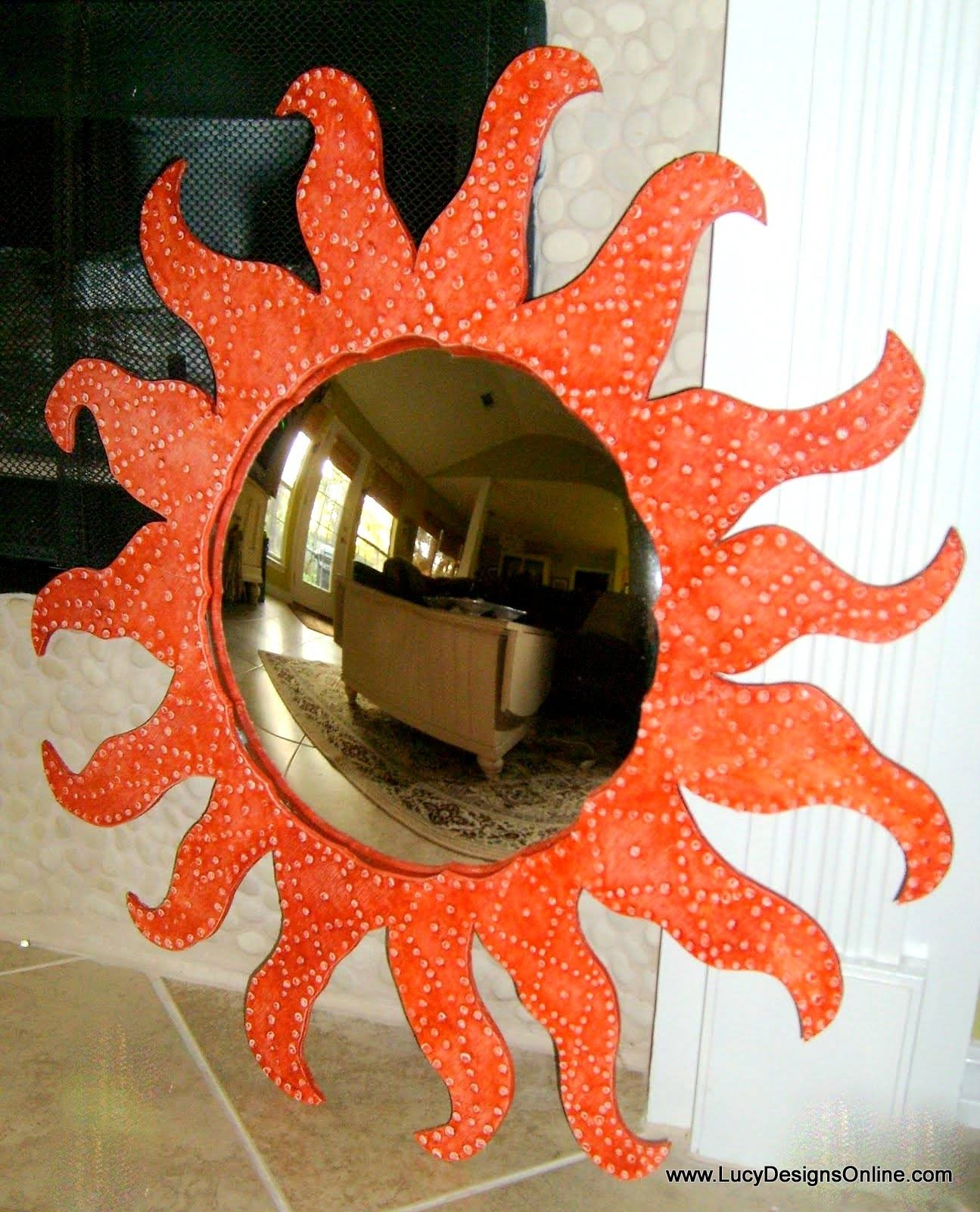 Handmade Mirrors, Fish Mirrors, Furniture Shaped Mirrors, Textured for Large Sun Shaped Mirrors (Image 9 of 25)