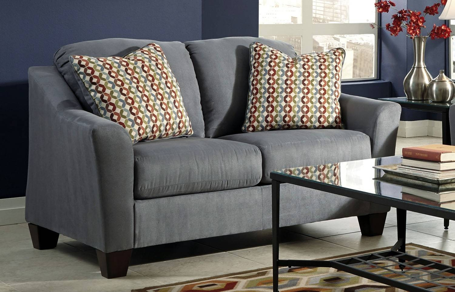 Hannin-Lagoon Loveseat | Ashley Furniture | Orange County, Ca with regard to Sofa Orange County (Image 6 of 25)