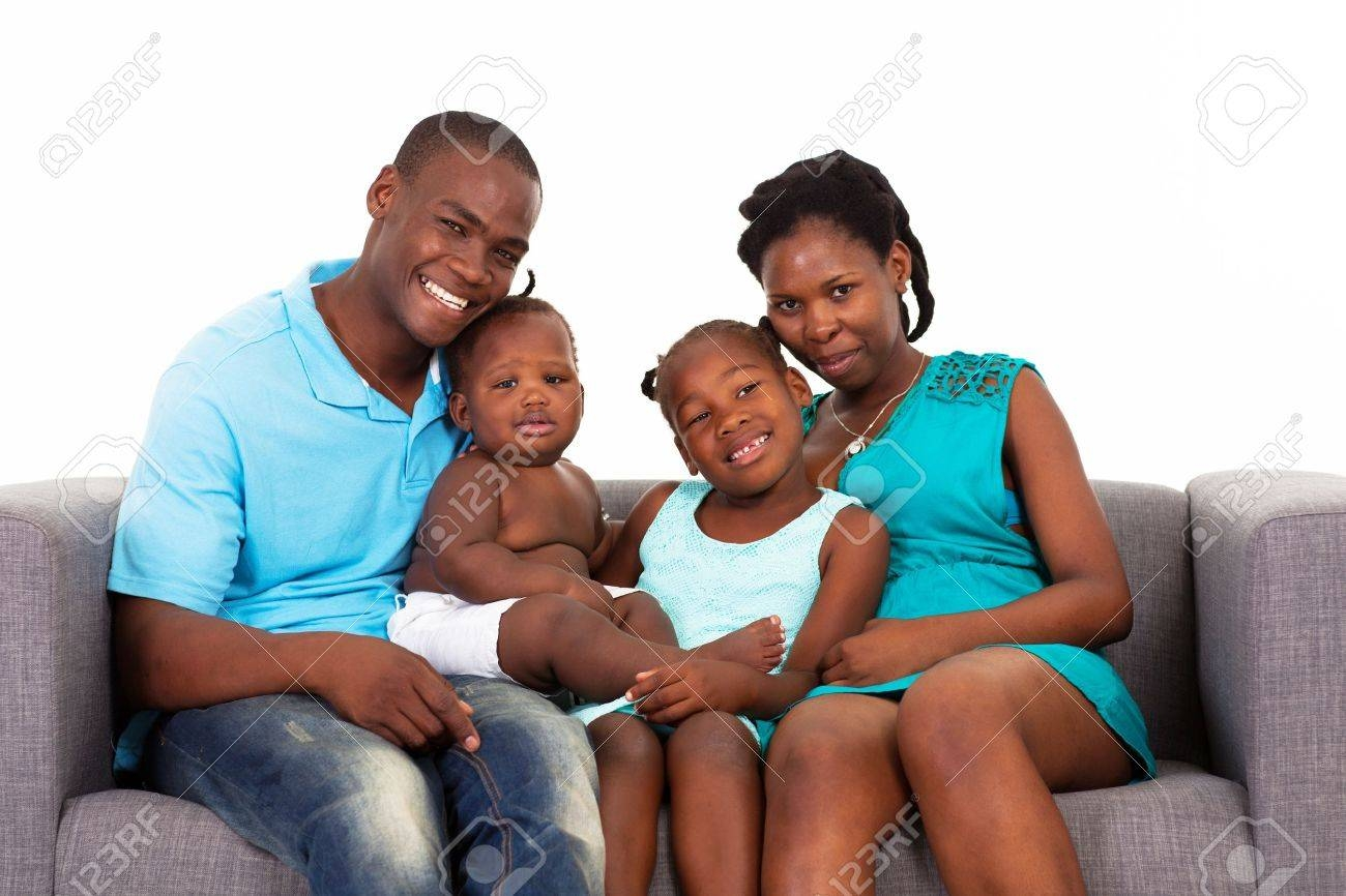 Happy African American Family Sitting On Sofa Stock Photo, Picture for Family Sofa (Image 20 of 30)