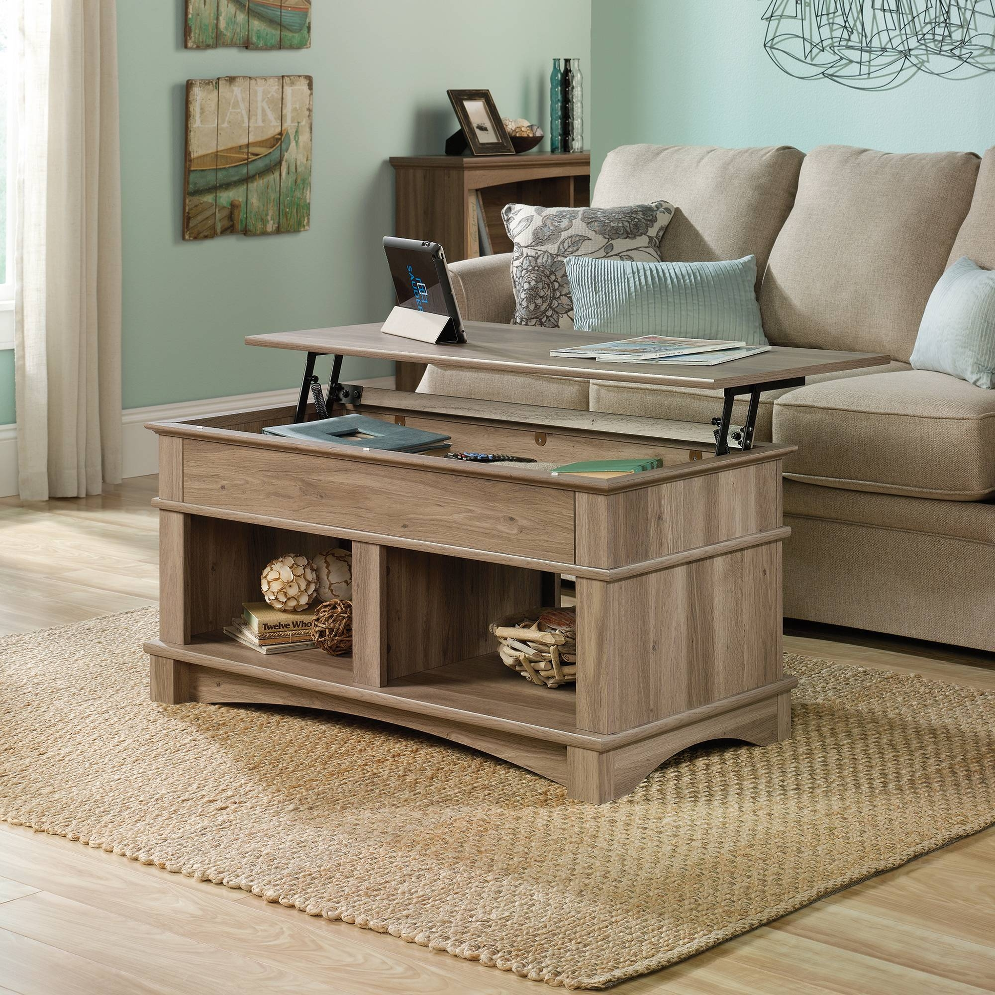 Harbor View | Lift-Top Coffee Table | 420329 | Sauder inside Lift Up Top Coffee Tables (Image 15 of 30)