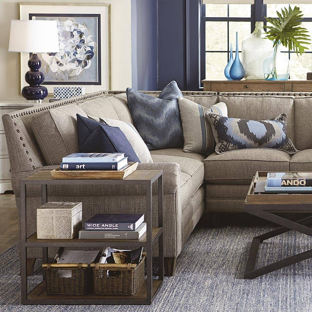 Harlan Large L-Shaped Sectional | Living Room | Bassett Furniture throughout Bassett Sectional Sofa (Image 16 of 30)