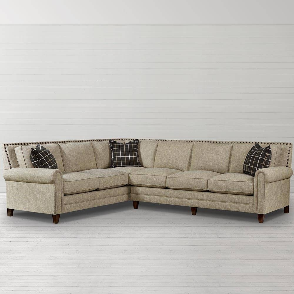 Harlan Large L-Shaped Sectional | Living Room | Bassett Furniture with regard to Craftsman Sectional Sofa (Image 22 of 30)