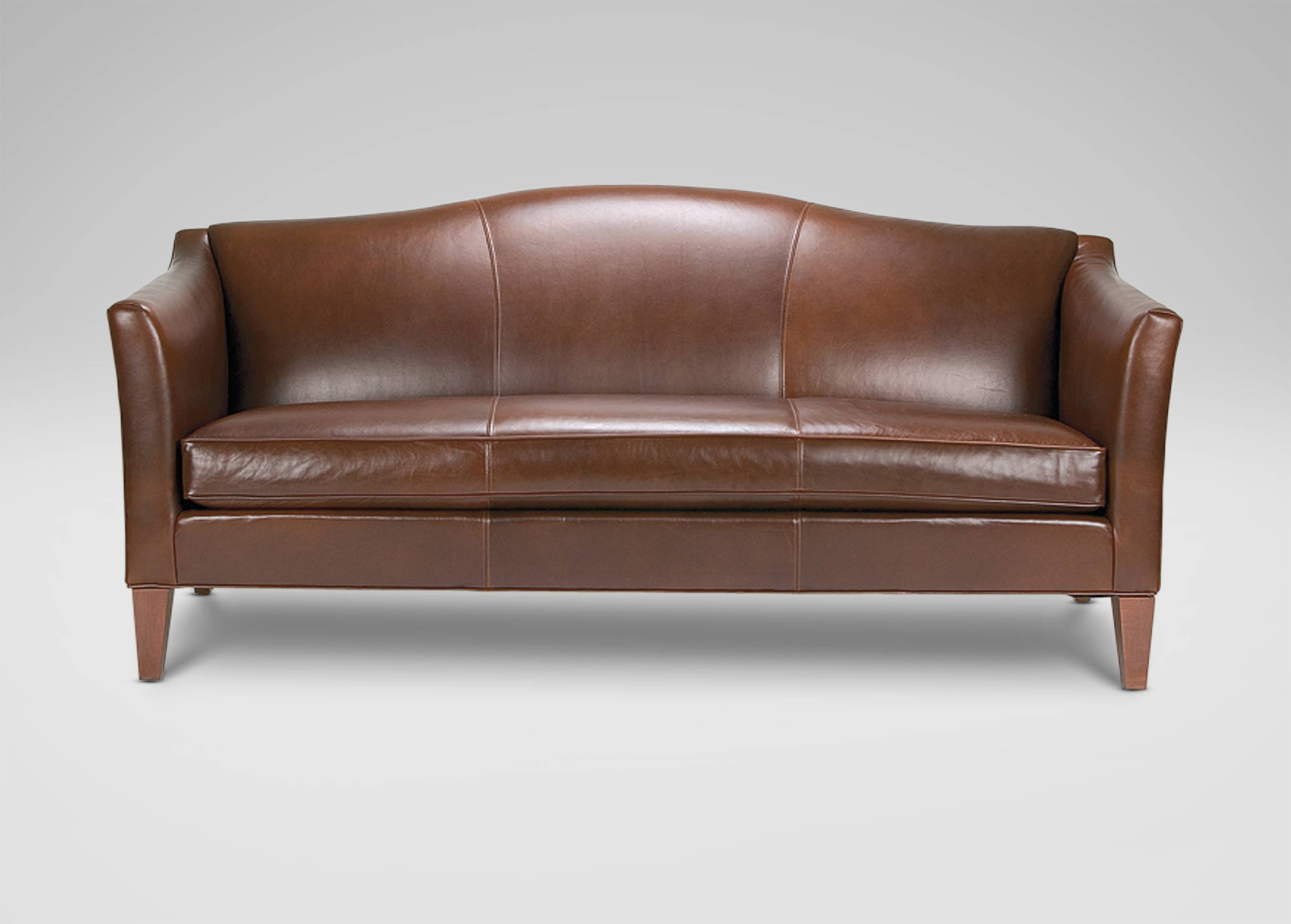 Hartwell Bench-Cushion Leather Sofa - Ethan Allen | Sitegenesis pertaining to Leather Bench Sofas (Image 12 of 30)