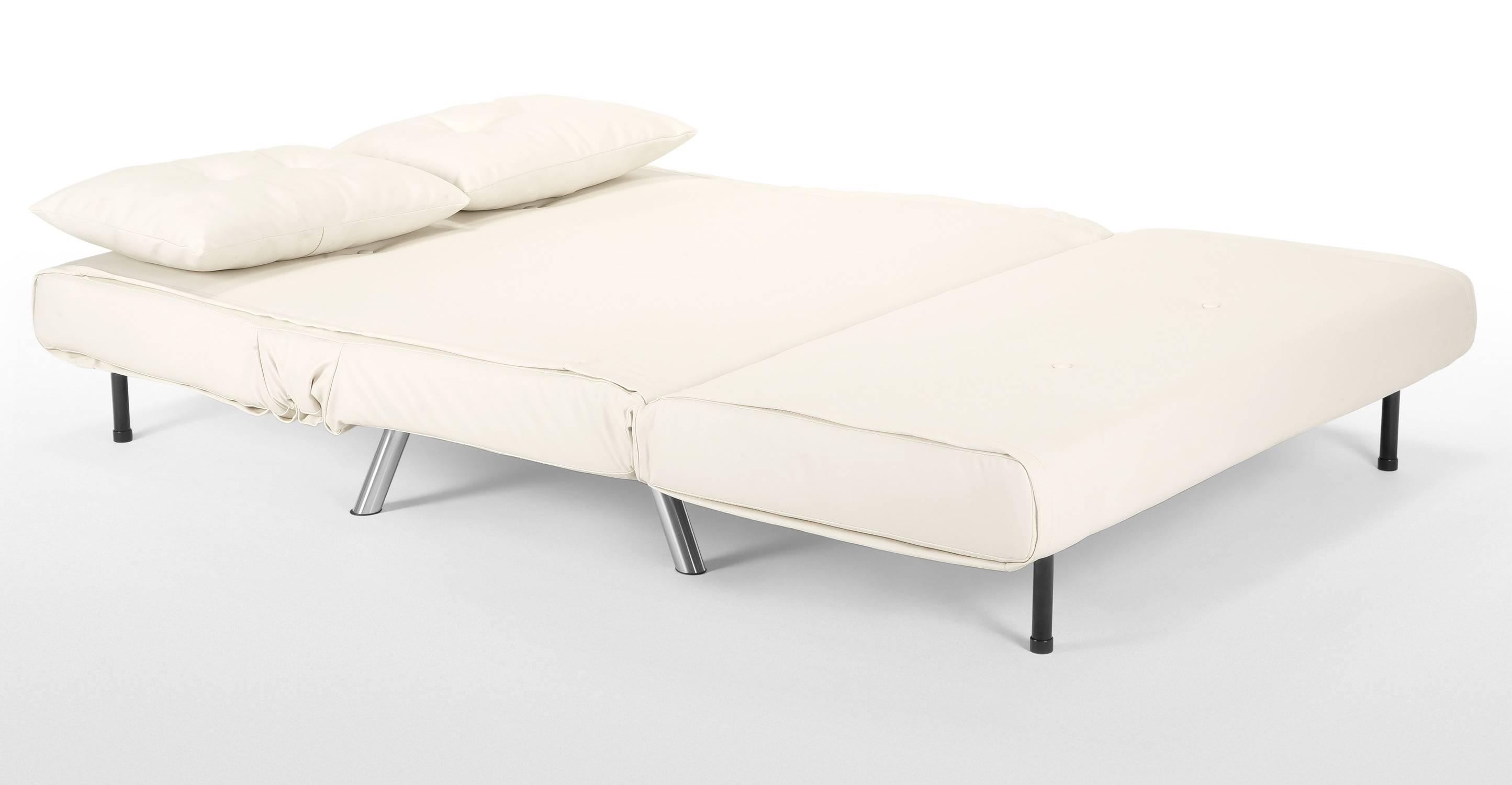 Haru Small Sofa Bed In Ibis Cream | Made for Mini Sofa Beds (Image 12 of 30)