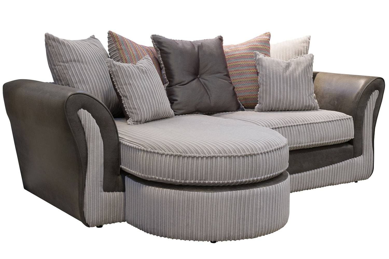 Harvey Corner Sofa – Leather Sectional Sofa Within Chintz Sofa Beds (View 13 of 30)