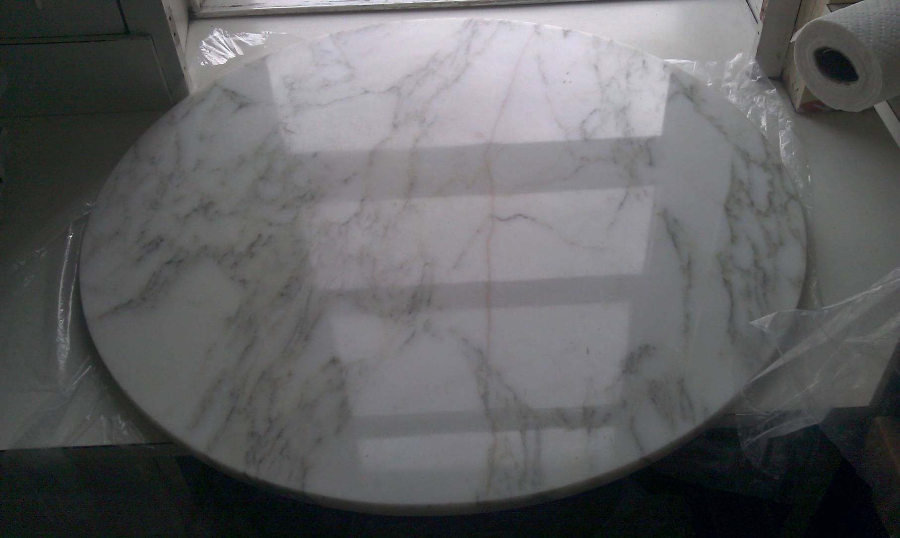 Have A Crack On Table? Marble Table Top Restoration Is The Solution! in Round Slate Top Coffee Tables (Image 7 of 30)