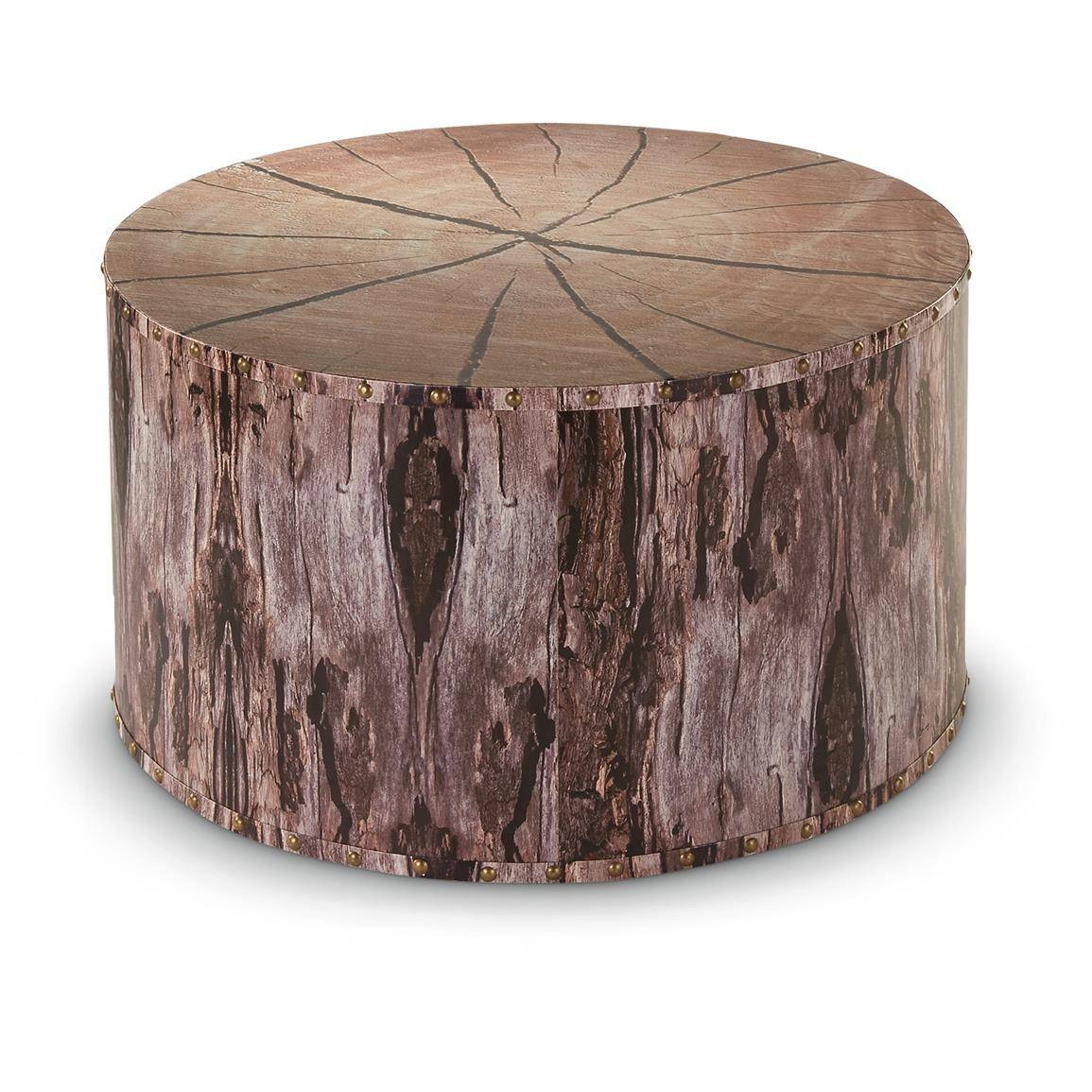 Hawthorn Modern Brown Tree Trunk Silver Metal Coffee Table Coffee inside Silver Trunk Coffee Tables (Image 15 of 30)