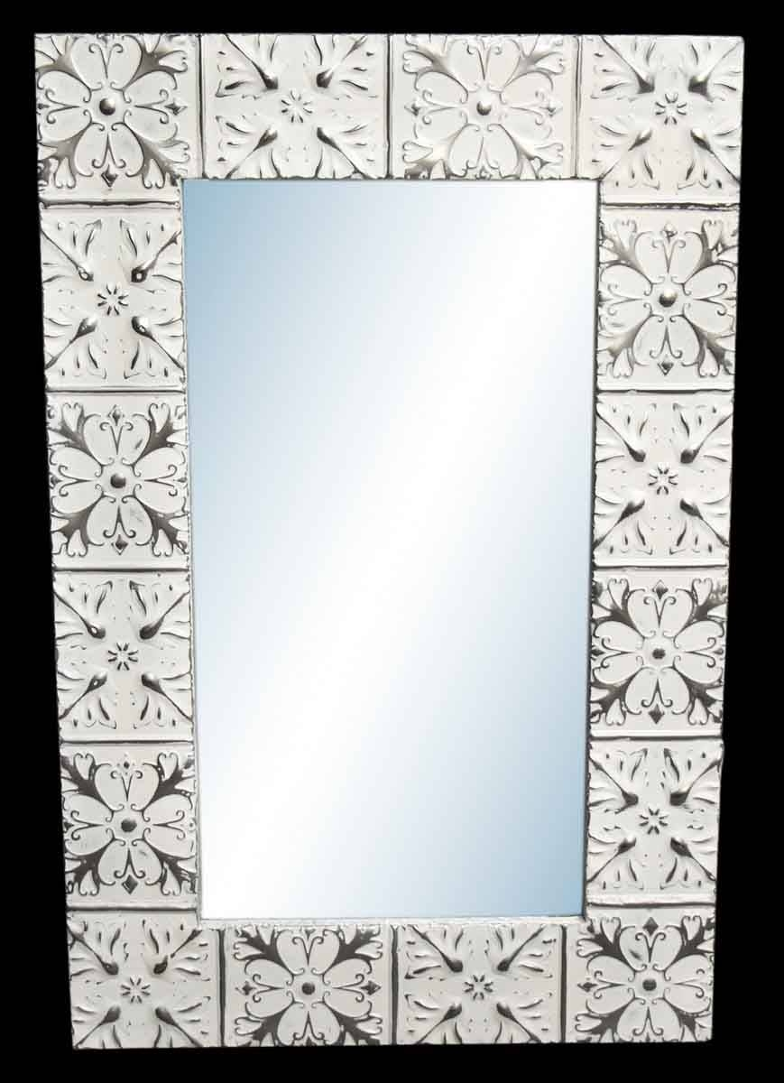 Hazleton Flower 4.5 In. Tin Framed Mirror | Olde Good Things for Pressed Tin Mirrors (Image 10 of 25)
