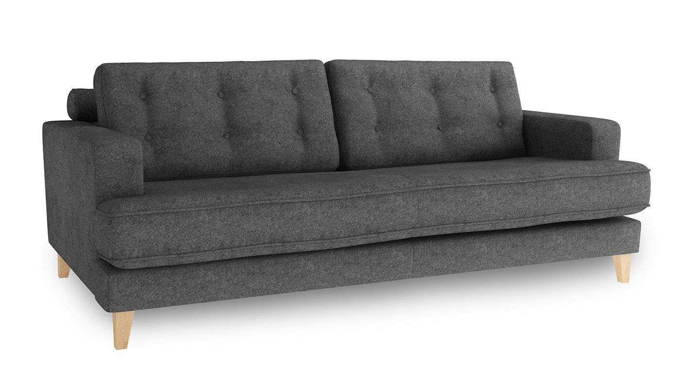 Heal's Mistral 4 Seater Sofa Wool Felt Armour Natural Feet pertaining to Four Seat Sofas (Image 20 of 30)